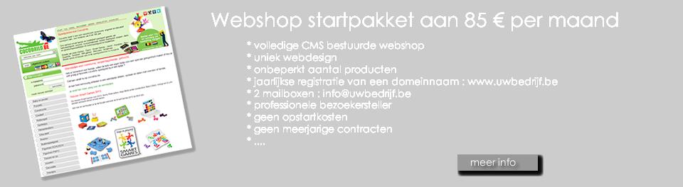 webshop startpakket